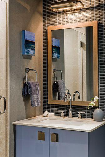 60平米一居室美式风格卫生间设计图