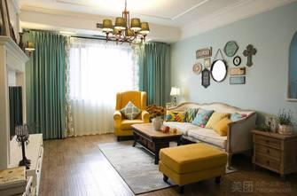 70平米美式风格客厅图