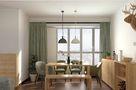 70平米现代简约风格客厅灯饰设计图