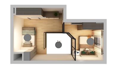 50平米一居室现代简约风格其他区域设计图