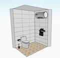 50平米现代简约风格卫生间装修案例
