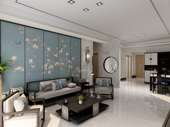 120平米三室一厅新古典风格客厅欣赏图