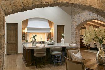 130平米四室两厅地中海风格厨房装修图片大全