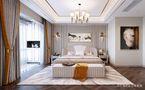 140平米三室两厅田园风格卧室设计图