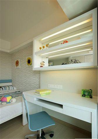 富裕型120平米三室两厅英伦风格儿童房图片大全