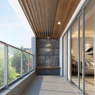 140平米三中式风格阳光房设计图
