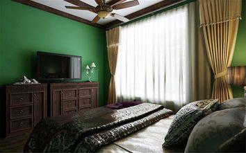 经济型60平米一室一厅东南亚风格卧室图
