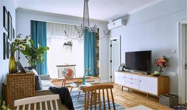 80平米北欧风格客厅图