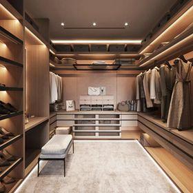 140平米四室兩廳現代簡約風格衣帽間裝修案例