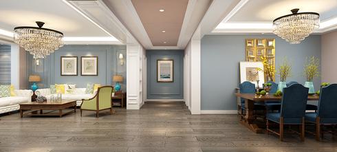 140平米四室两厅美式风格客厅效果图