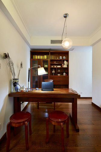 15-20万120平米三室两厅中式风格书房图片大全