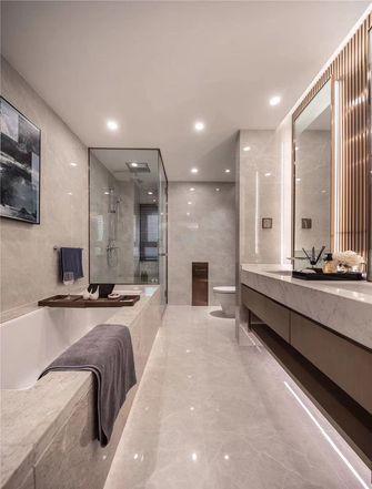 130平米三现代简约风格卫生间设计图