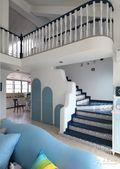 15-20万140平米三室两厅地中海风格楼梯欣赏图