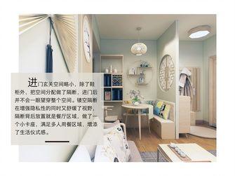 60平米三室一厅日式风格玄关图