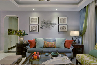 60平米公寓美式风格客厅装修图片大全