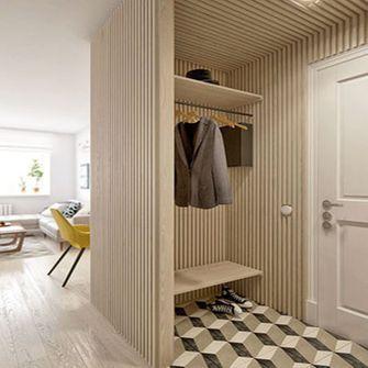 110平米三室两厅田园风格玄关图