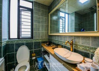 富裕型100平米三室两厅美式风格卫生间图