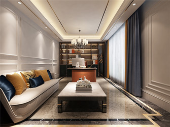 140平米别墅美式风格书房图片大全