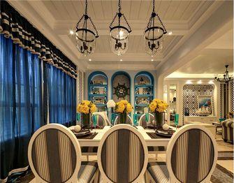 140平米三室两厅地中海风格餐厅装修案例