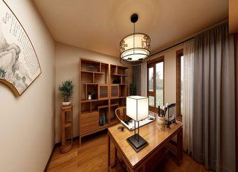 70平米一室两厅中式风格书房设计图