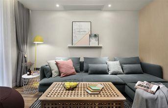 80平米三室两厅现代简约风格客厅设计图