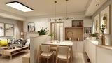90平米田园风格餐厅设计图