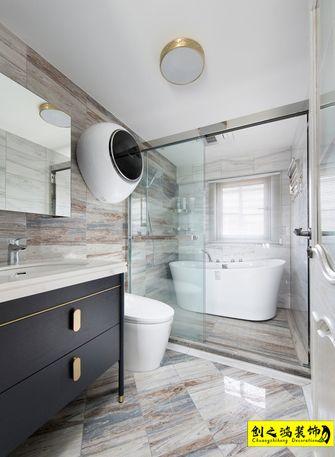 140平米四室一厅美式风格卫生间图片