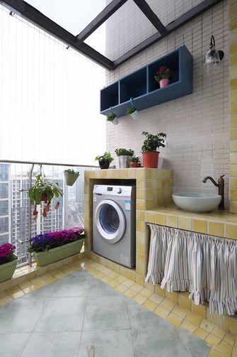 110平米三室两厅田园风格阳台装修图片大全