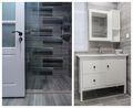 80平米三室两厅现代简约风格卫生间浴室柜图片大全