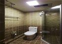 110平米三室一厅田园风格卫生间设计图