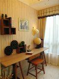 140平米四室一厅田园风格书房图