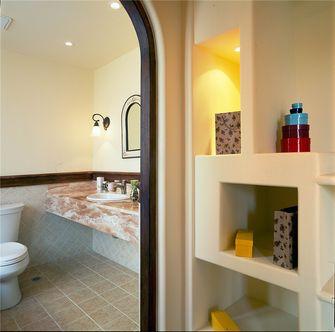 80平米三室两厅地中海风格卫生间装修案例