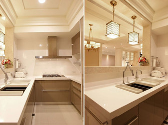 120平米三新古典风格厨房装修图片大全