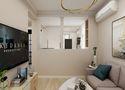 80平米三室两厅现代简约风格客厅装修图片大全