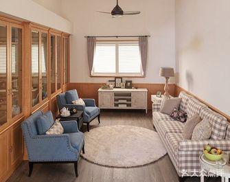 130平米复式田园风格客厅图片