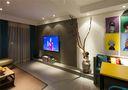 120平米公寓混搭风格影音室装修图片大全