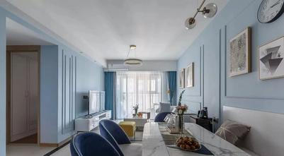 90平米三室两厅美式风格客厅图片大全