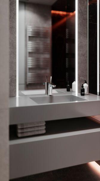 80平米三现代简约风格卫生间装修效果图
