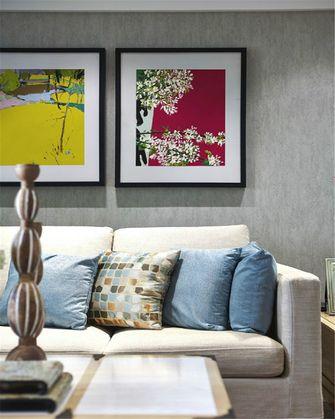 80平米三室一厅田园风格客厅图片