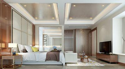 120平米三室两厅英伦风格卧室设计图