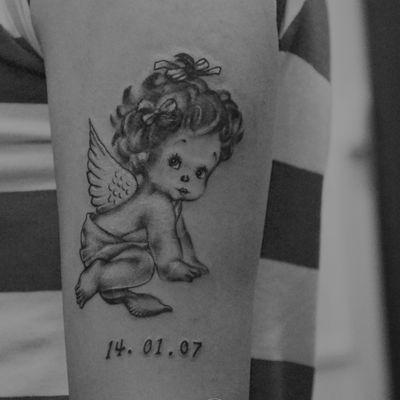 作品--小天使纹身图