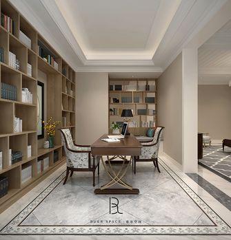 110平米三室两厅法式风格书房图片大全
