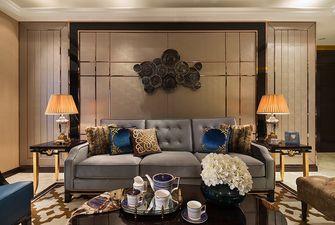 90平米三室两厅英伦风格客厅装修案例