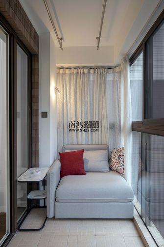 110平米三室三厅美式风格阳台效果图