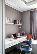 80平米三室一厅美式风格书房图片