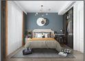 90平米三室一厅混搭风格卧室效果图