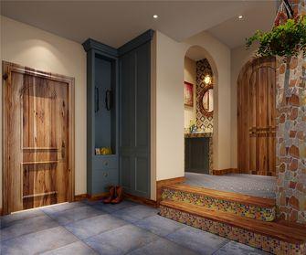 130平米三室两厅田园风格玄关图