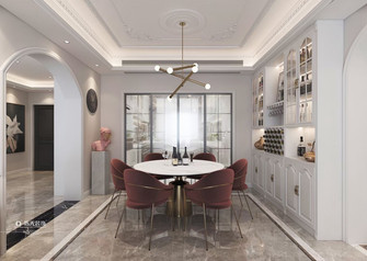 110平米三室两厅法式风格餐厅设计图
