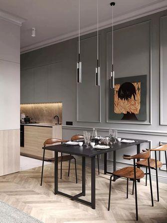 70平米一居室英伦风格餐厅欣赏图