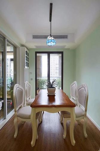 100平米三室两厅田园风格餐厅装修案例